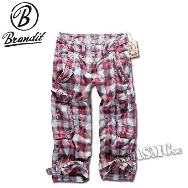 Brandit Shorts Ladies Vanity rot/schwarz checkered