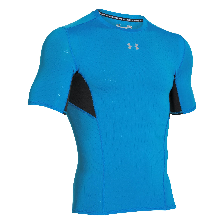 Under Armour Shirt Compressions Shortsleeve blau-schwarz