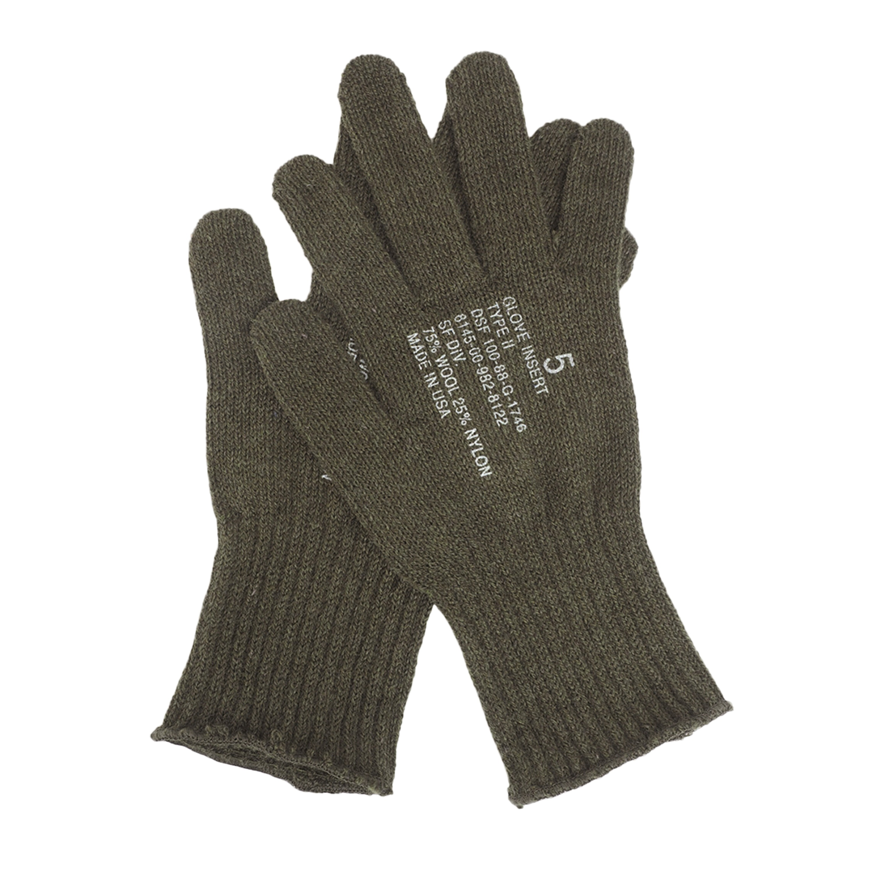 Handschuhe Wolle US oliv