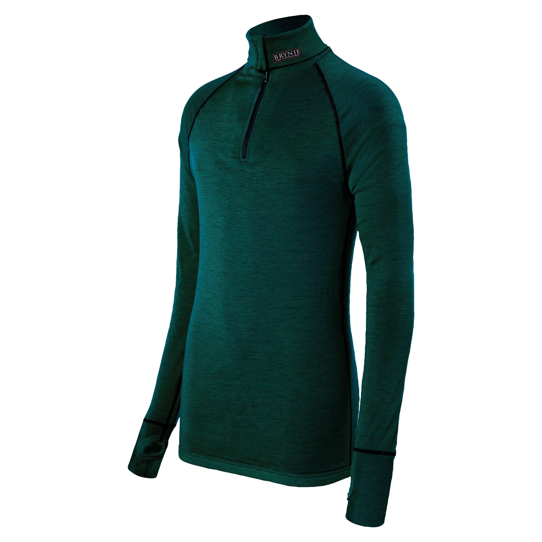 Brynje Zip-Poloshirt Arctic oliv