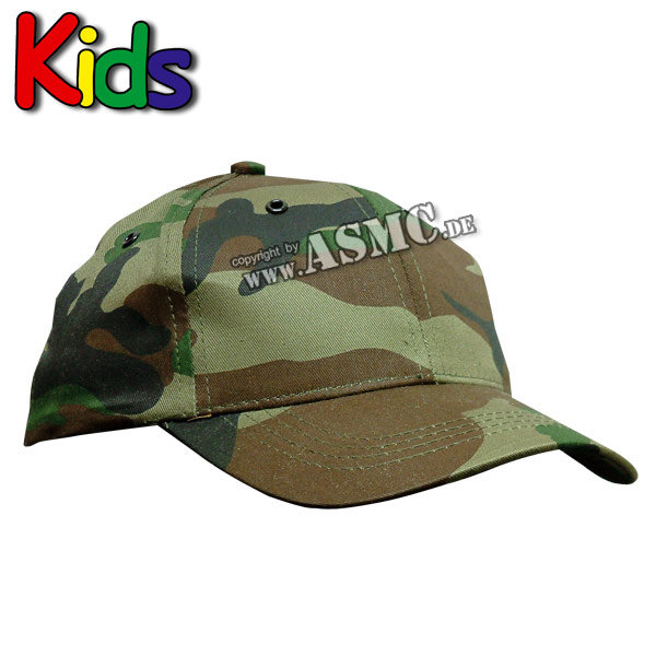 Baseballcap Kids woodland