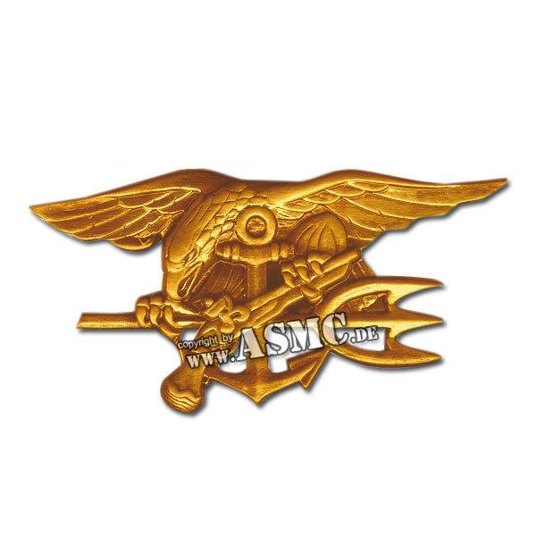 Abzeichen US Seal Badge groß gold