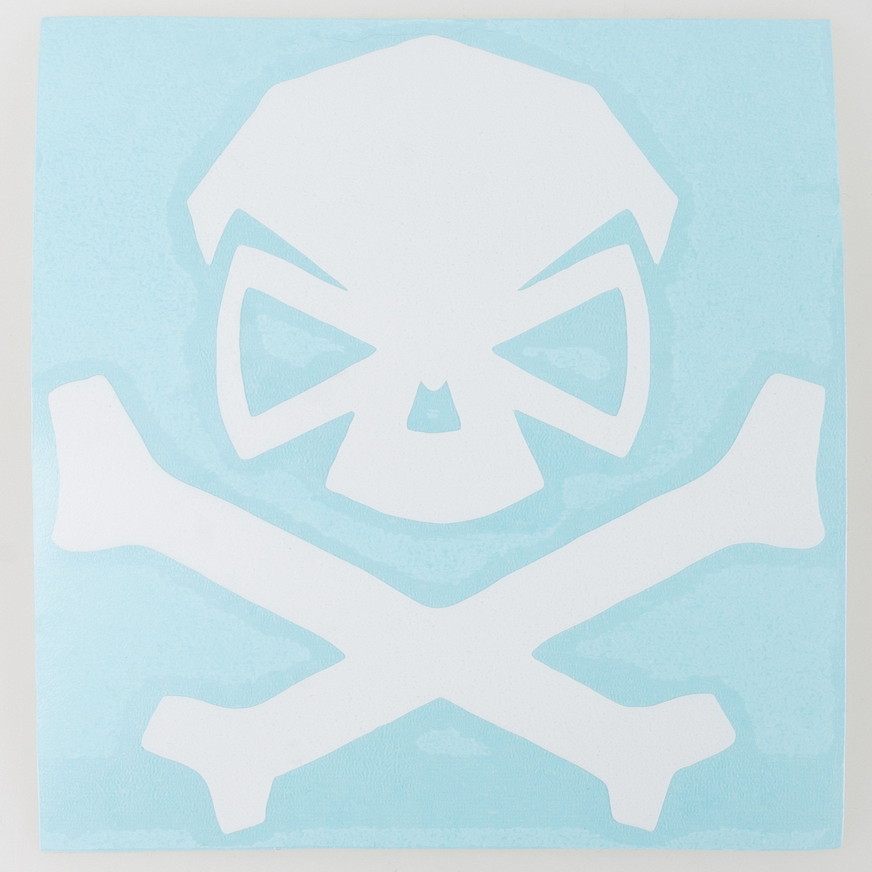Pipe Hitters Union Skull & Bones Aufkleber mittel weiß