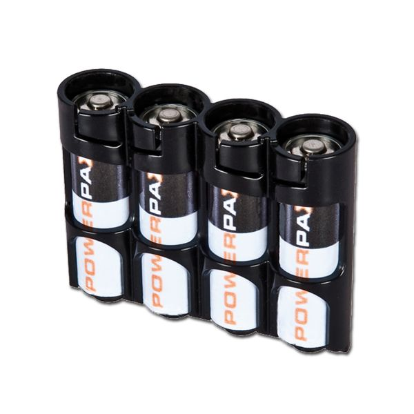 Batteriehalter Powerpax SlimLine 4 x AA schwarz