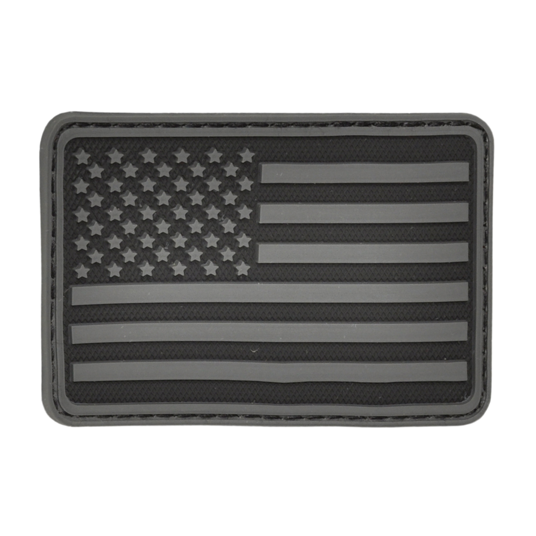 3D-Patch Hazard 4 USA Flag links schwarz
