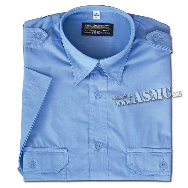 Diensthemd Kurzarm blau