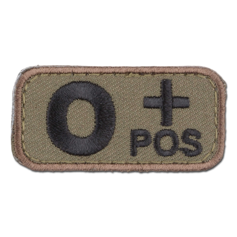 MilSpecMonkey Patch Blutgruppe O Pos forest