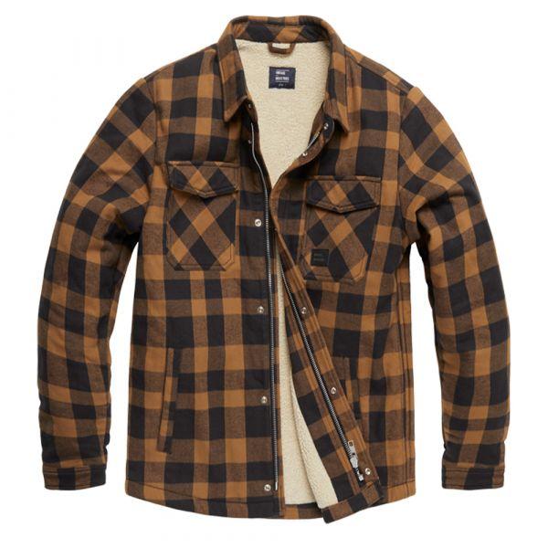 Vintage Industries Jacke Craft Heavyweight Shirt yellow check