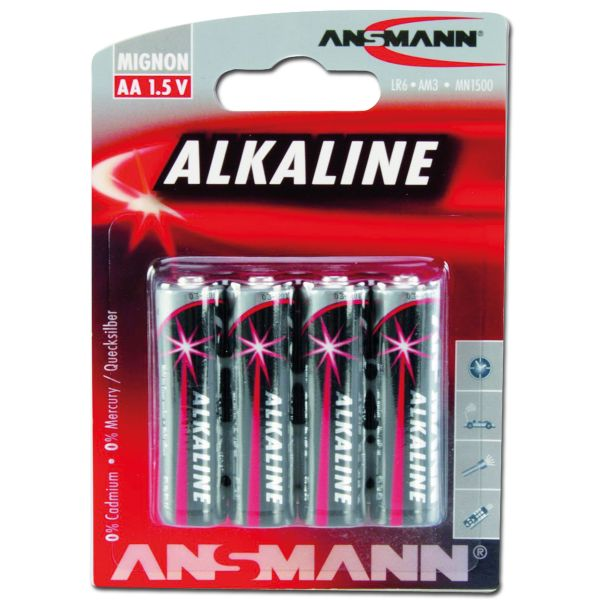 Batterie Ansmann Mignon AA Red-Line 4er-Pack