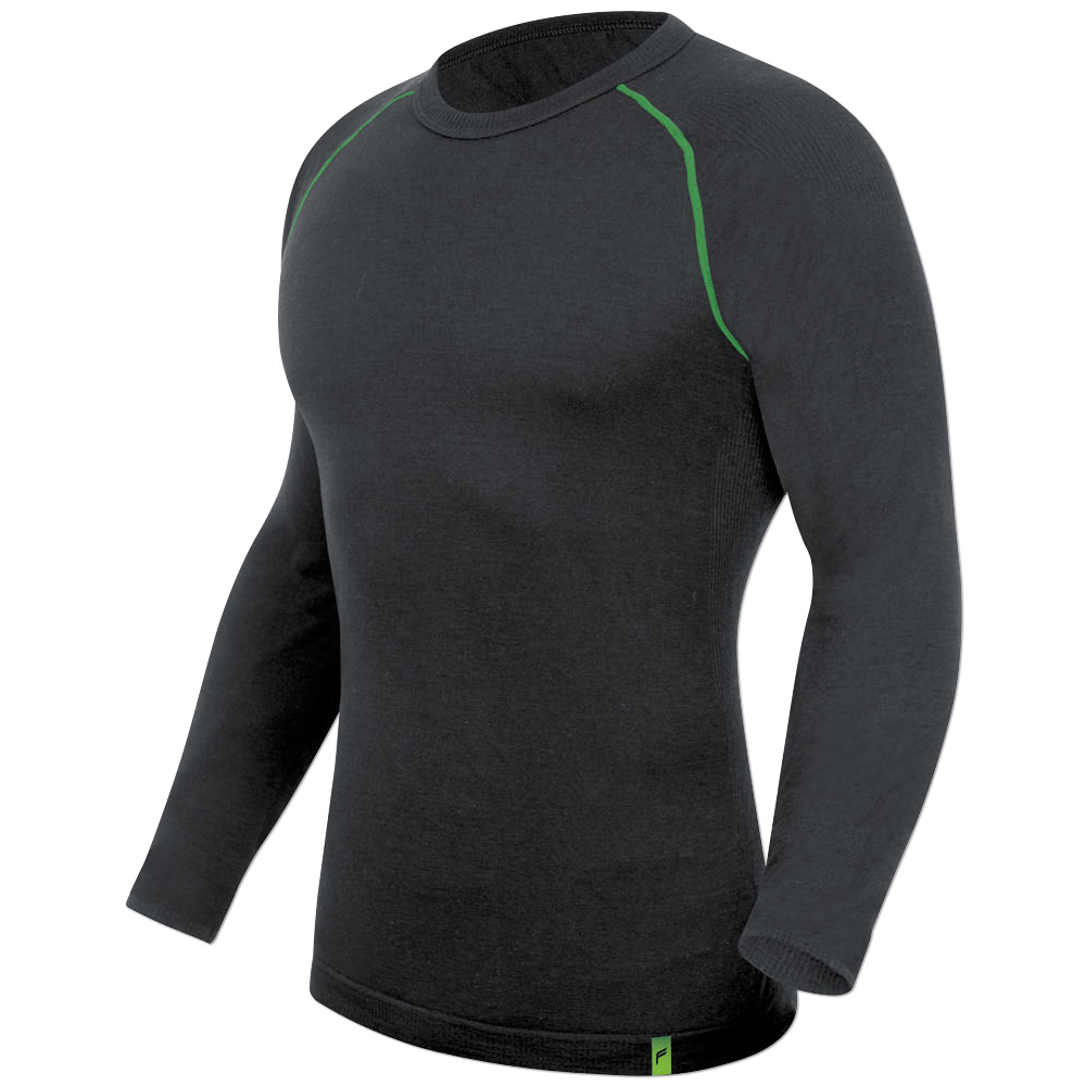 Longshirt F PL200+ anthrazit/grün