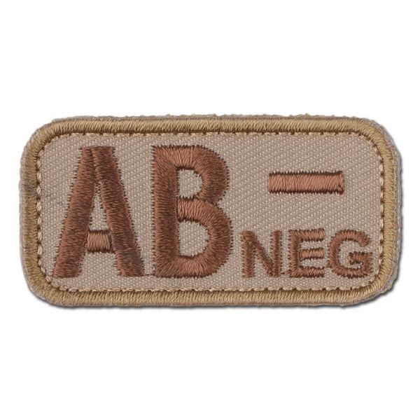 MilSpecMonkey Patch Blutgruppe AB Neg desert