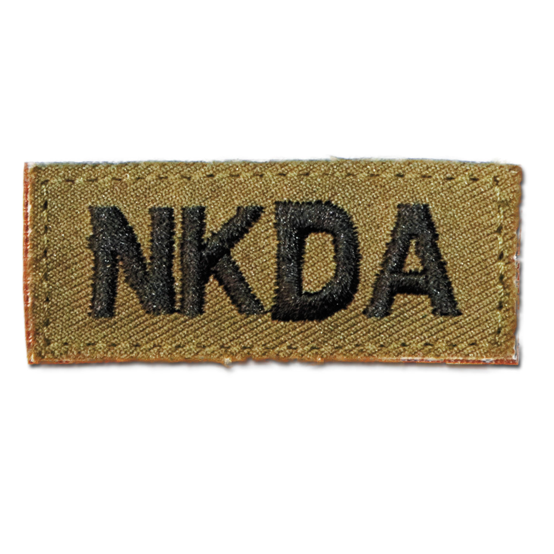 Textilabzeichen NKDA Klett khaki