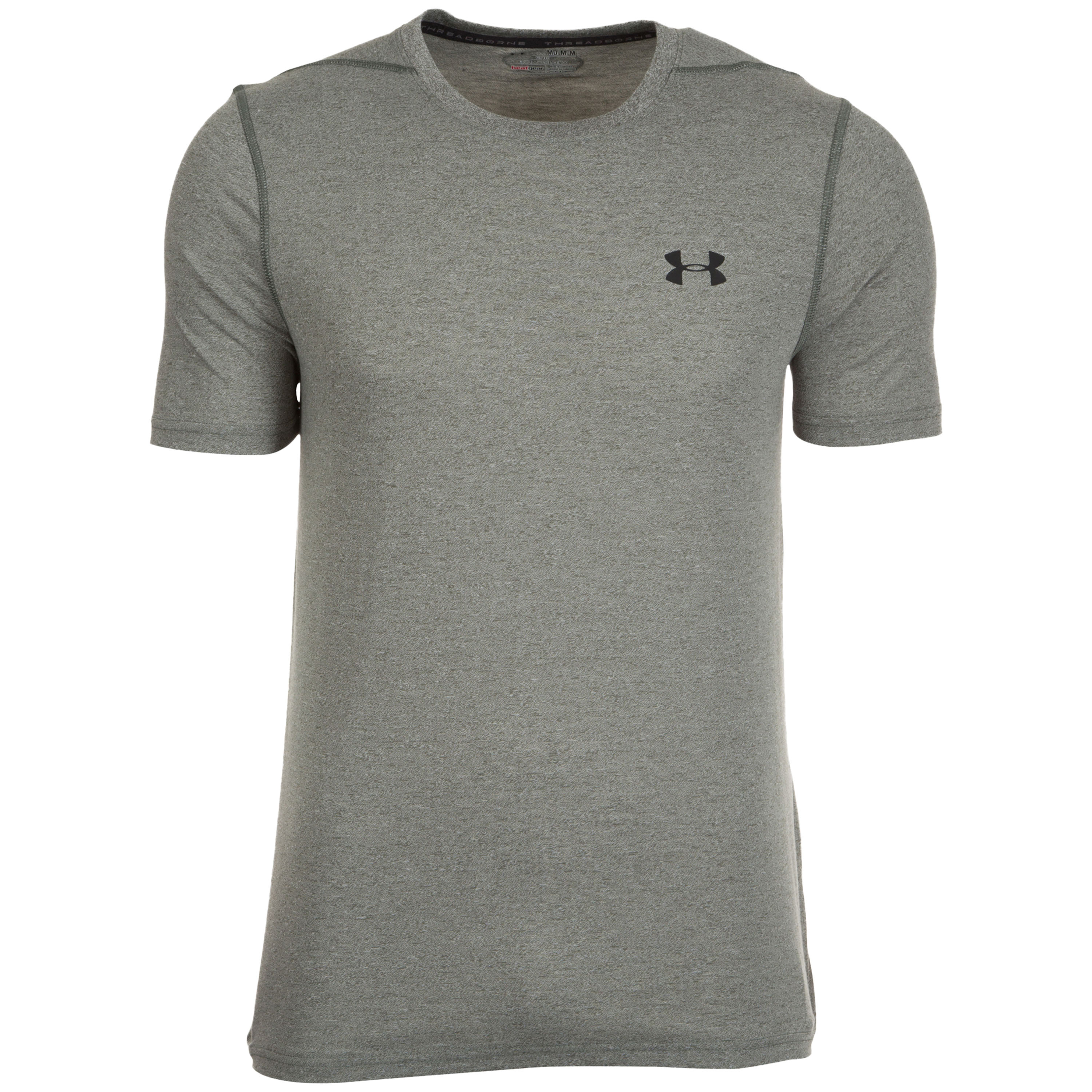 Under Armour Fitness Shirt Threadborne Fitted grau oliv