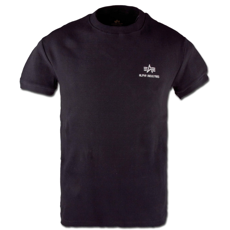 T-Shirt Alpha Industries Sport Rib schwarz