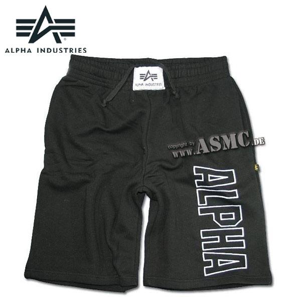 Alpha Industries Track Short schwarz