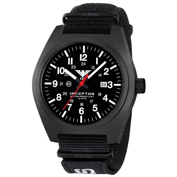 KHS Uhr Inceptor Black Steel XTAC Natoband schwarz