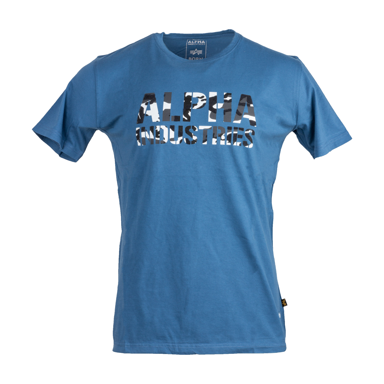 Alpha Industries T-Shirt Camo Print blau