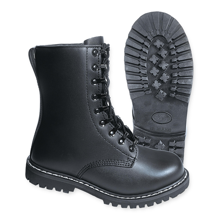 größte Auswahl beste Schuhe beste Qualität Brandit Springerstiefel mit Stahlkappe schwarz
