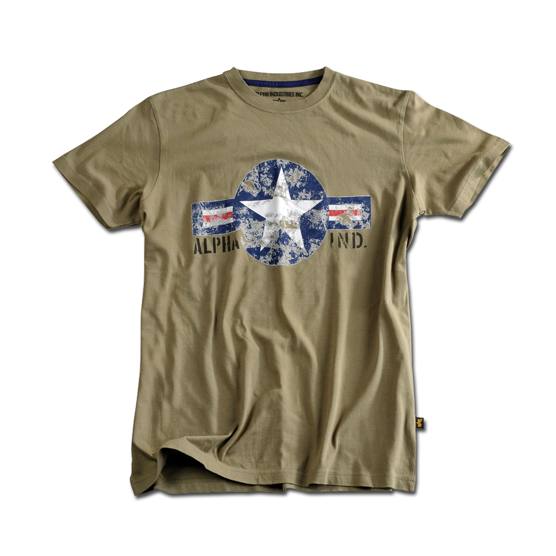 T-Shirt Alpha USAF oliv