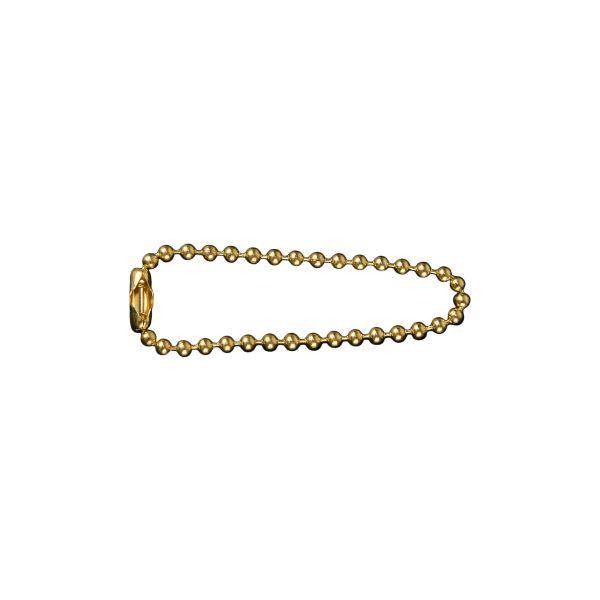 Halskette für Erkennungsmarke 11cm Messing