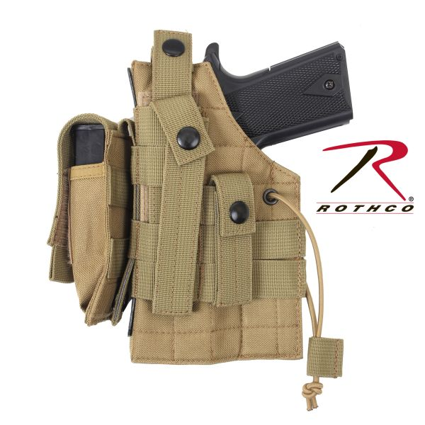Holster Rothco MOLLE beidhändig coyote