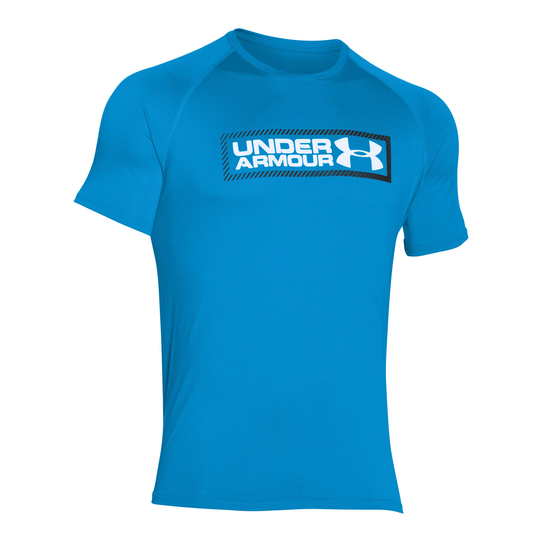 Under Armour T-Shirt Tech Double Up blau-weiß