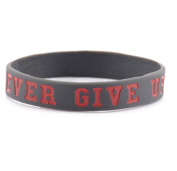 La Patcheria Armband Never Give Up Bracelet schwarz rot