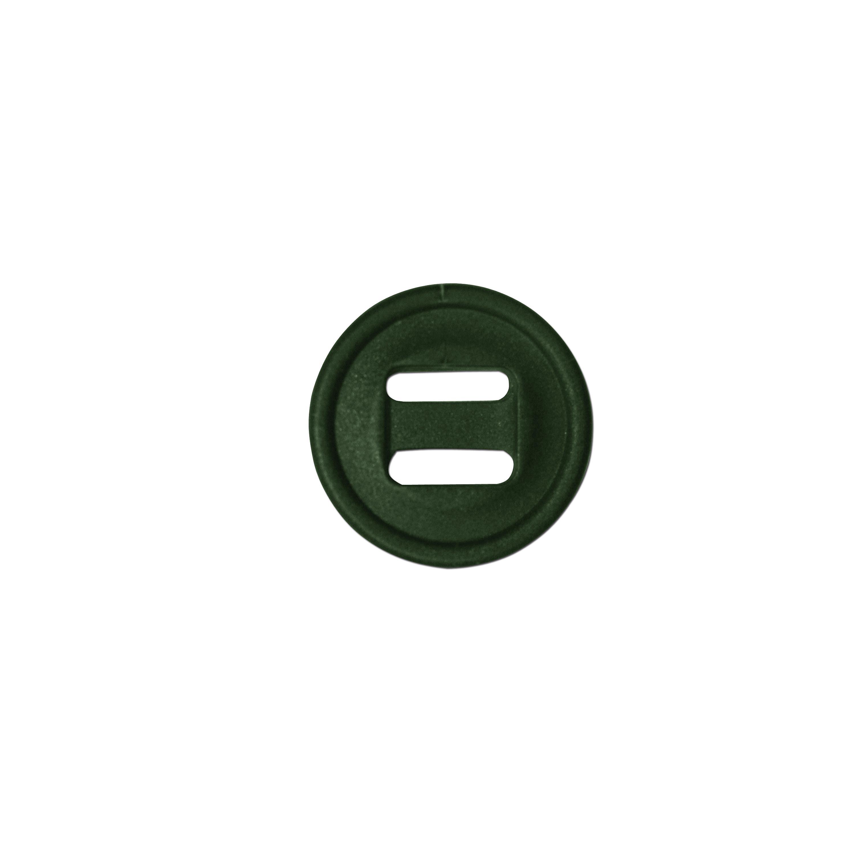 Slotted Button klein 10-er Pack oliv
