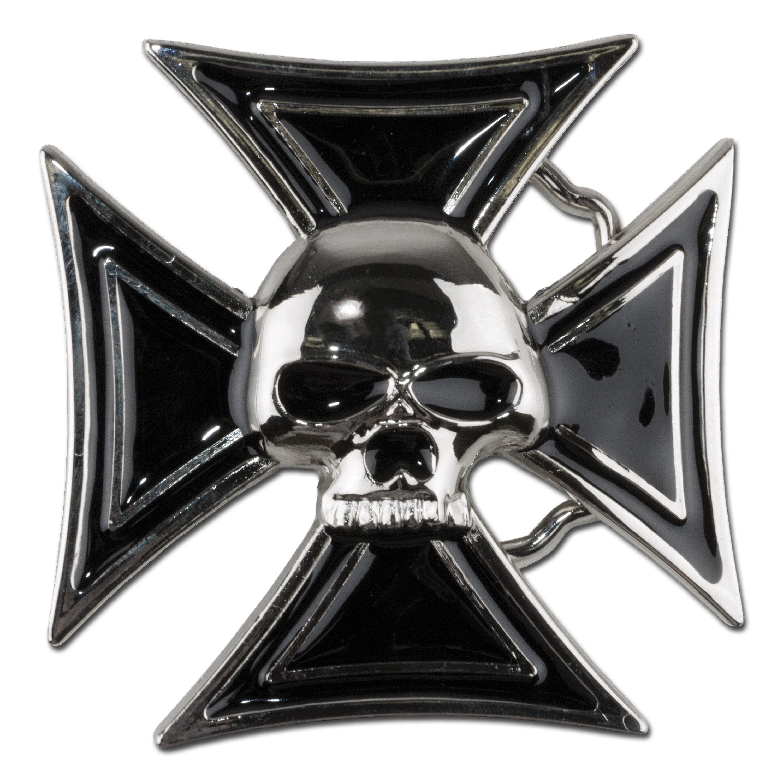 Gürtelschnalle Skull and Cross