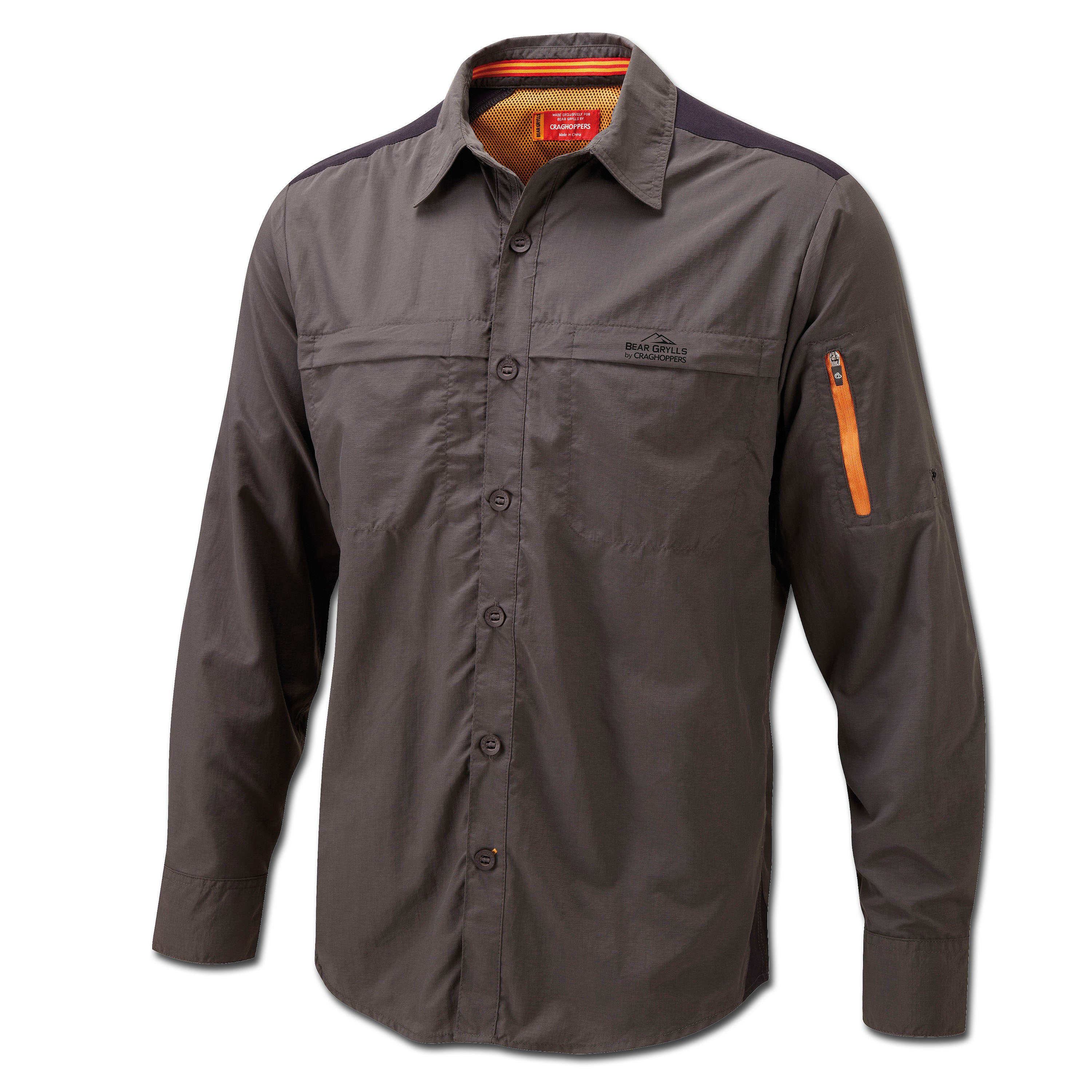 Bear Grylls Trek Longsleeve Hemd black pepper