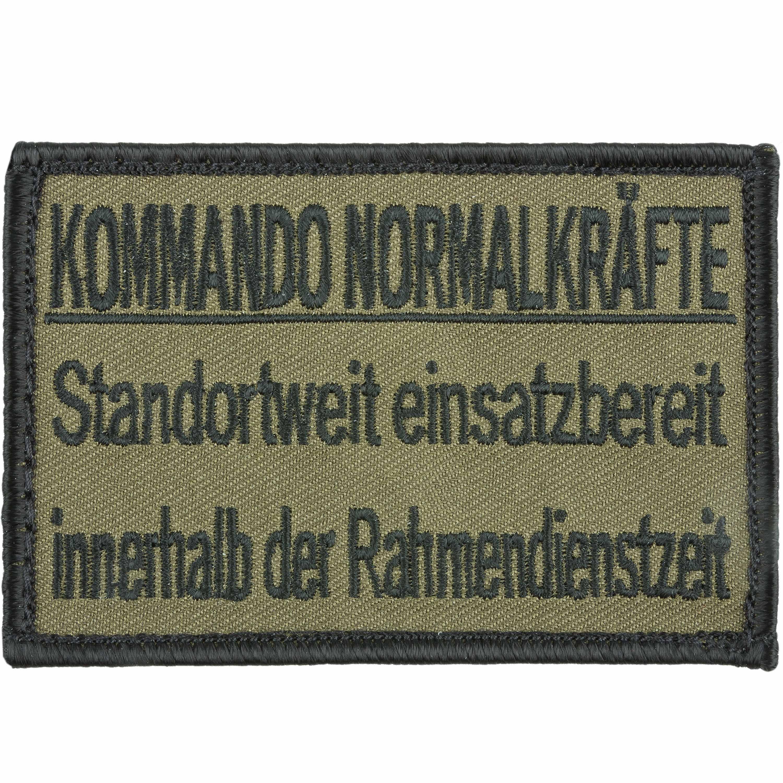 Café Viereck Patch Kommando Normalkräfte