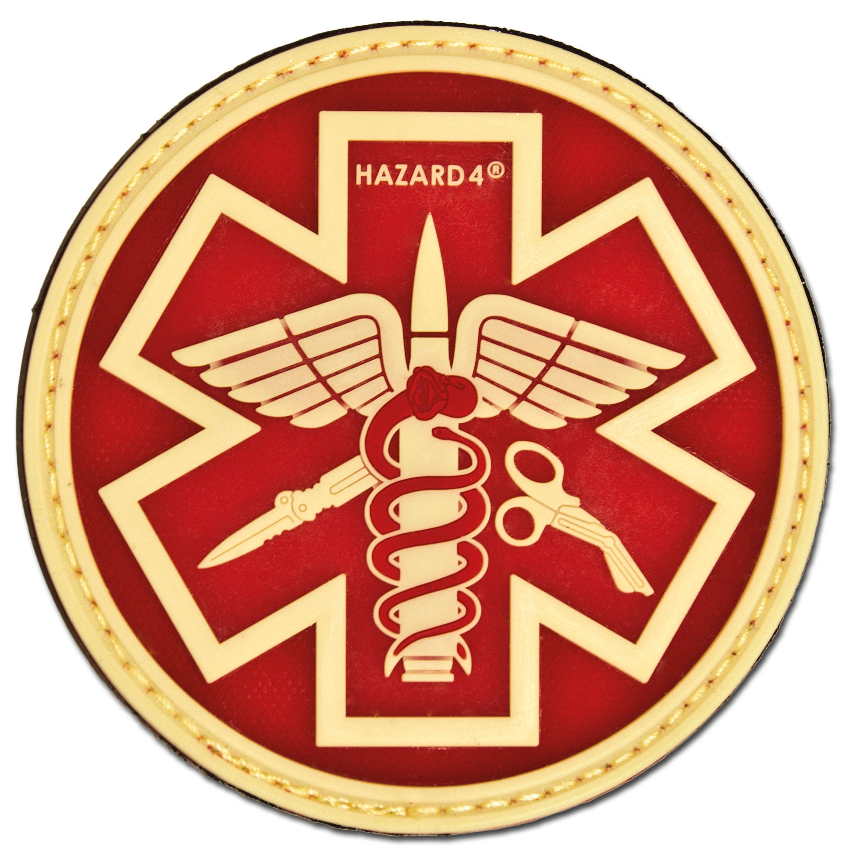 3D-Patch Hazard 4 Paramedic nachleuchtend