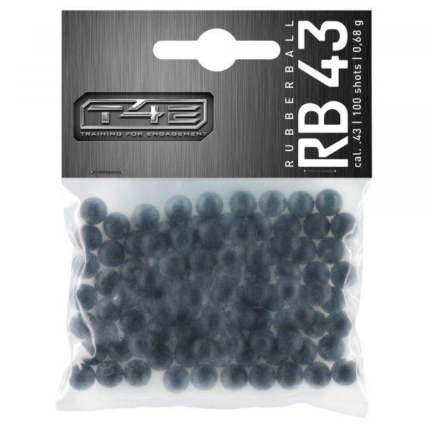 T4E Home Defense Rubberballs Kaliber .43 100 Stück schwarz