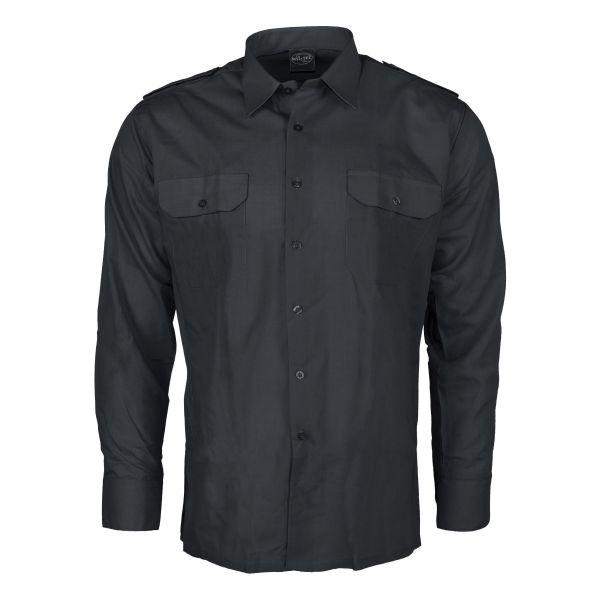 Diensthemd Langarm schwarz