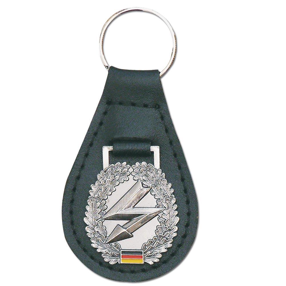 Schlüsselanhänger mit Barettabzeichen Fernmelder