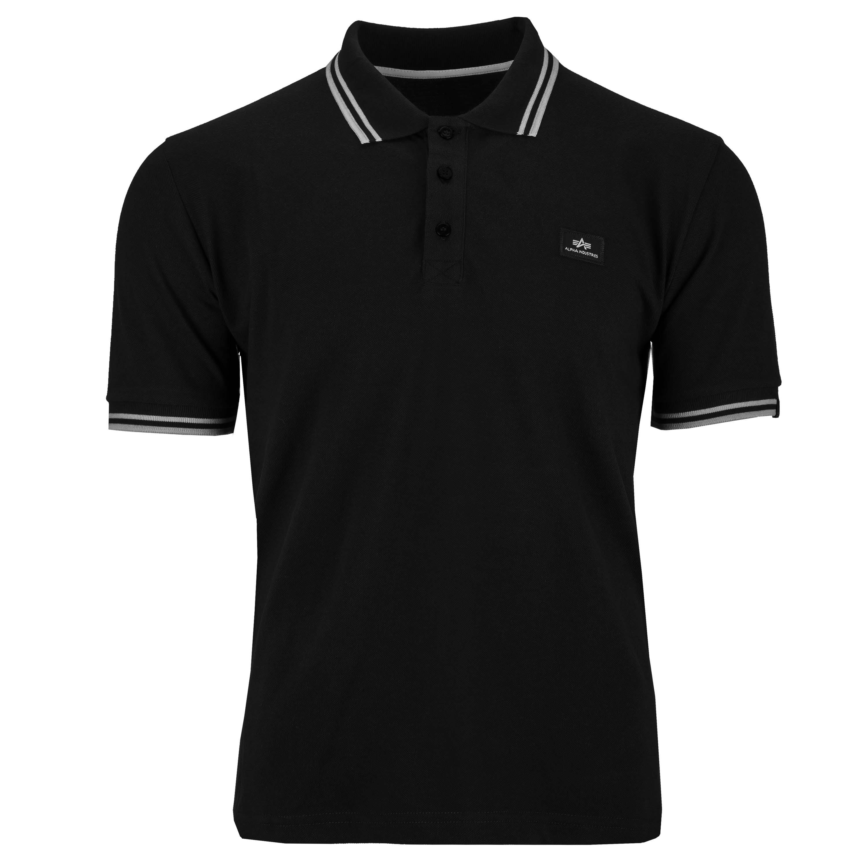 Alpha Industries Shirt Twin Stripe Polo II schwarz/weiß