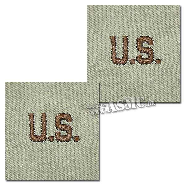 Abzeichen US Letters desert Textil