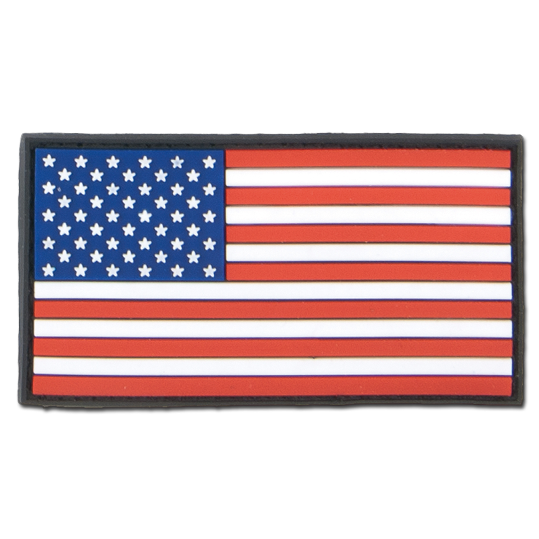 3D-Patch USA Fahne bunt