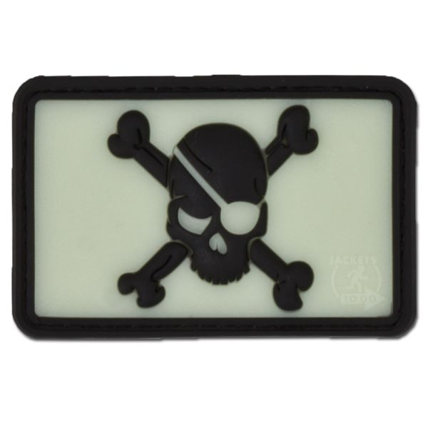 3D-Patch Pirate Skull nachleuchtend invers