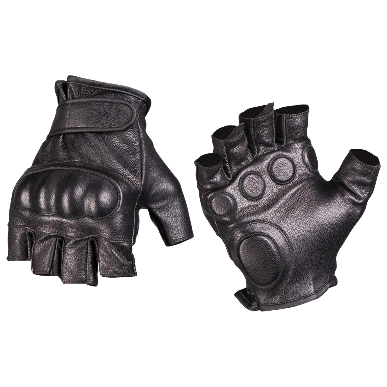 Handschuhe Fingerling Tactical Leder schwarz