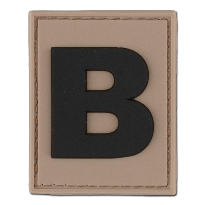 3D ID-Patch Buchstabe B desert