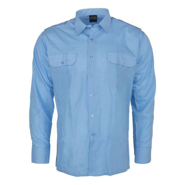 Diensthemd Langarm blau
