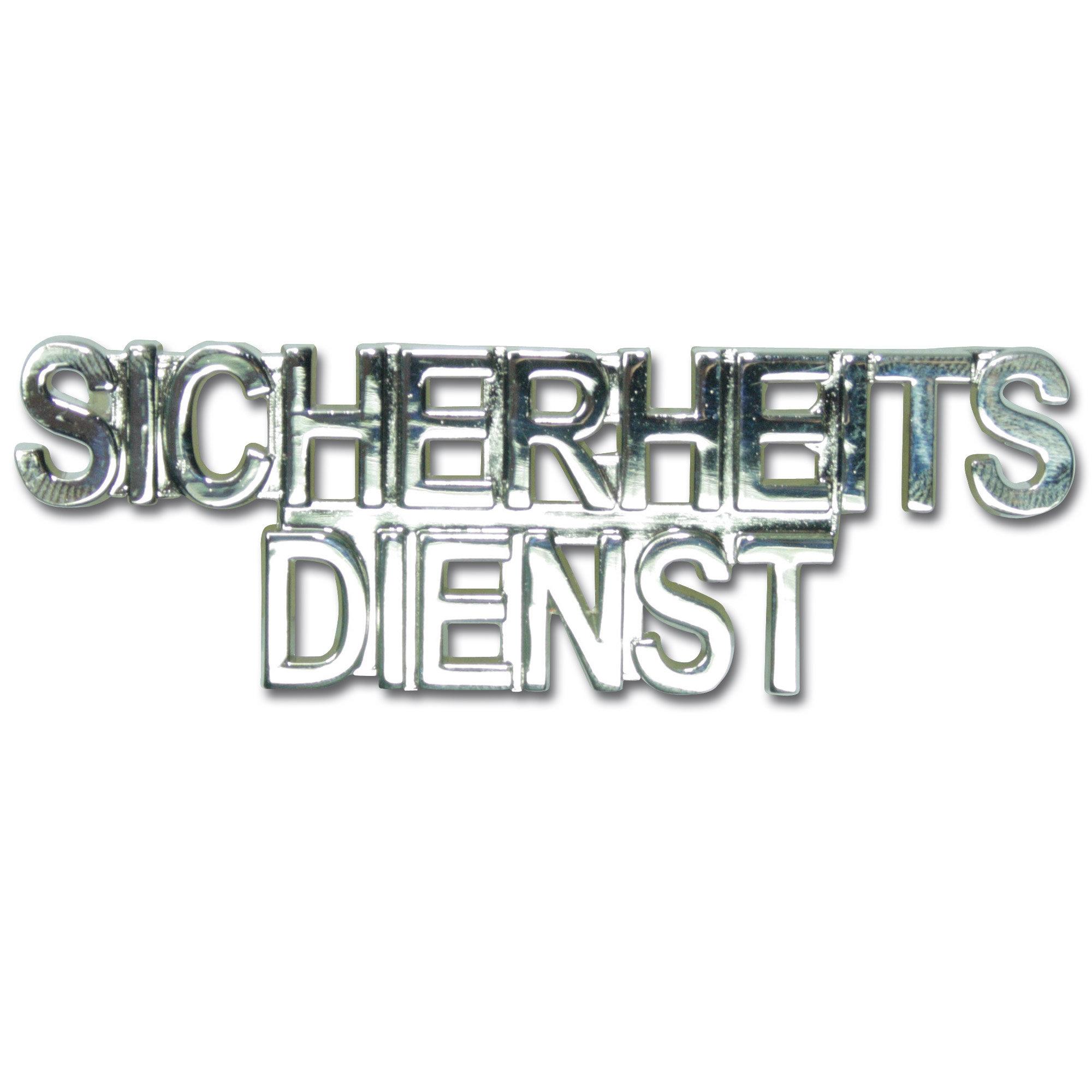 Kragenspiegel SICHERHEITSDIENST silber