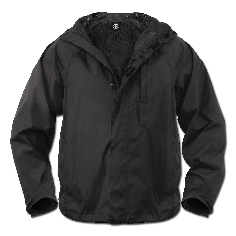 Regenjacke Rothco Packable schwarz