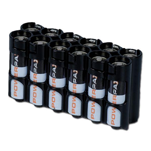 Batteriehalter Powerpax 12 x AA schwarz