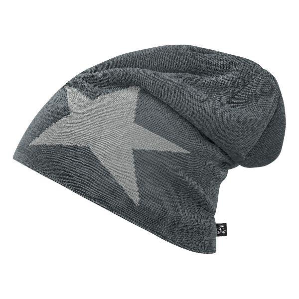 Brandit Beanie Jersey Star anthrazit grau