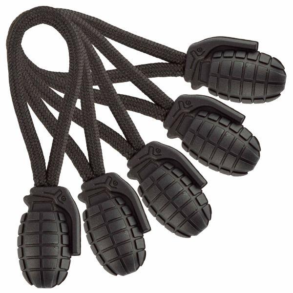 Mil-Tec Ring Puller Pineapple 5er Pack schwarz