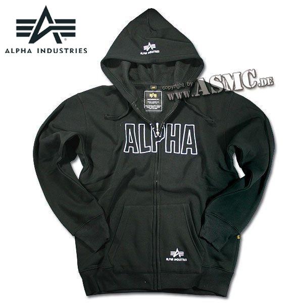 Zip-Sweatshirt Alpha Industries Track Hoody schwarz