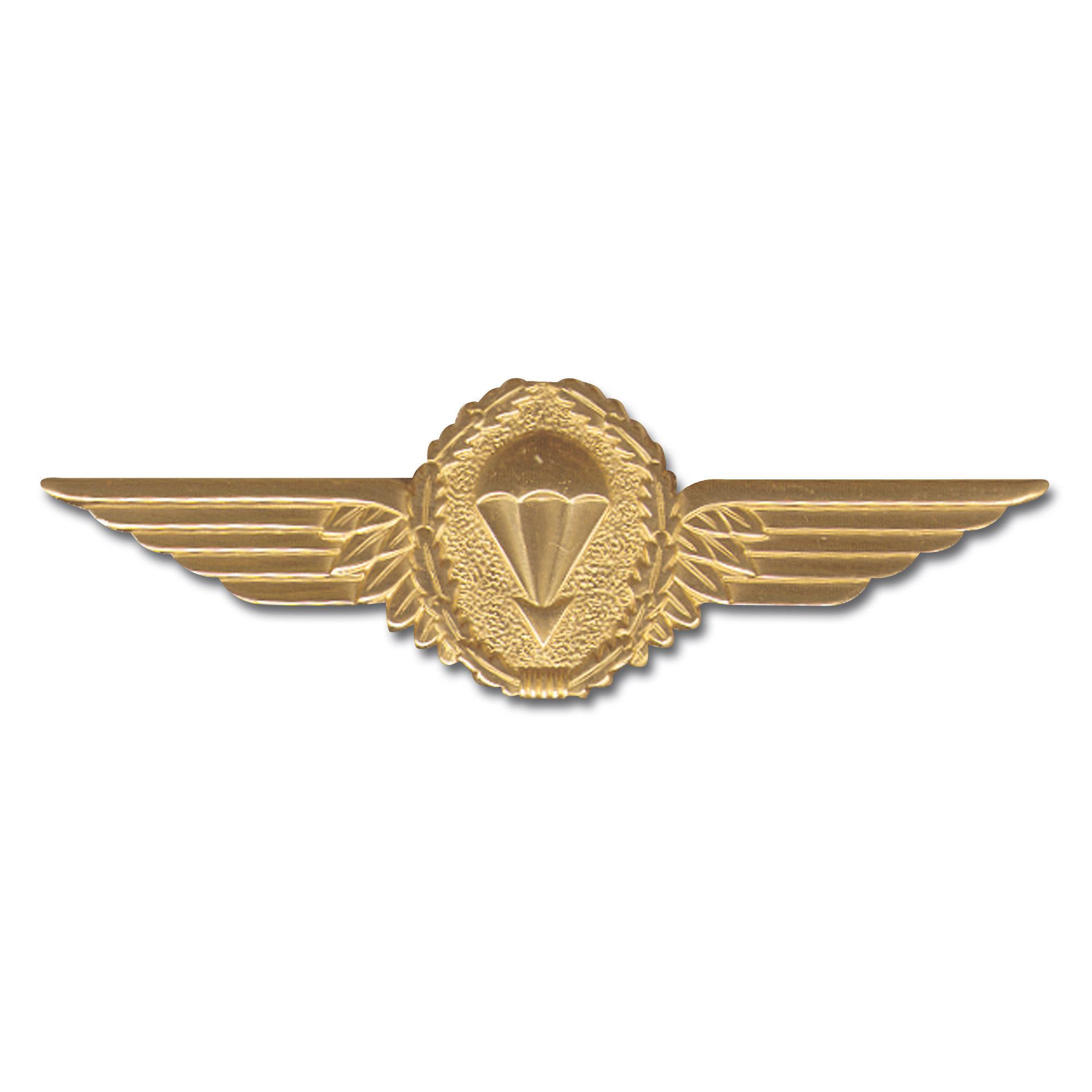 Abzeichen BW Fallschirmspringer gold Metall