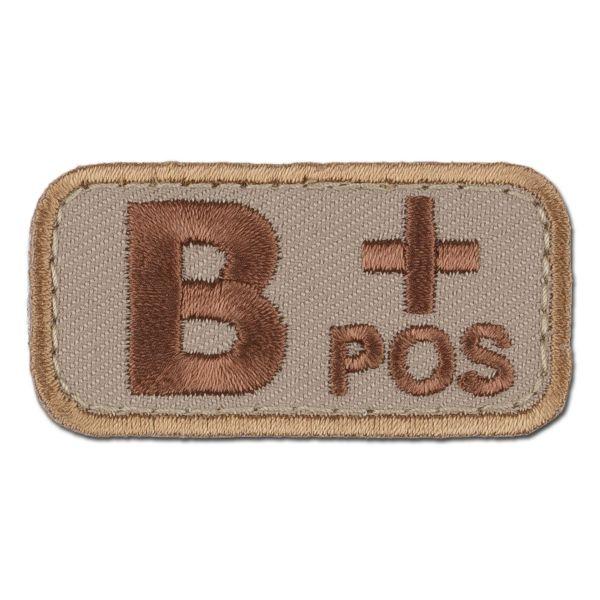MilSpecMonkey Patch Blutgruppe B Pos desert